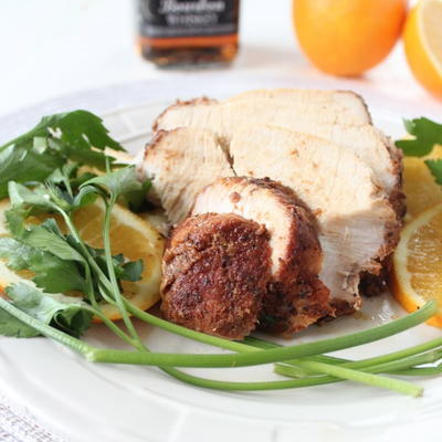 Slow Cooker Orange Bourbon Turkey Breast