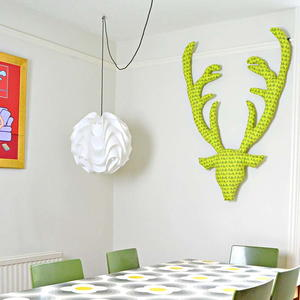 Cheerful Fabric Stag Head