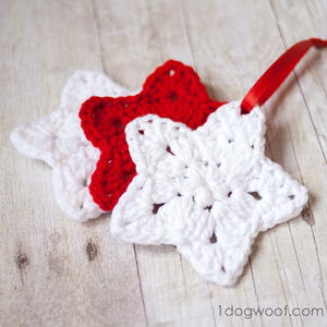 Christmas Star Crochet Ornament Pattern