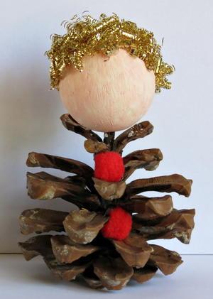 Pine Cone Elf Allfreeholidaycrafts Com