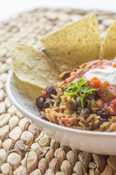 Beef and Bean Taco Rice Skillet | RecipeLion.com