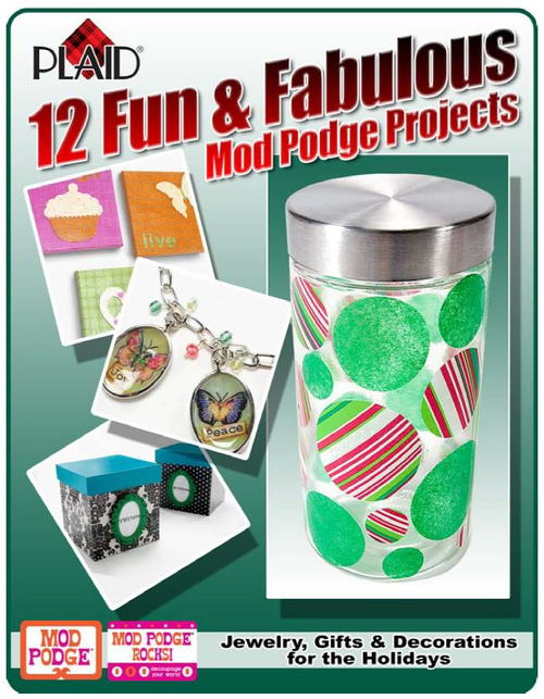 12 Fun & Fabulous Mod Podge Projects- Jewelry, Gifts & Decorations for the Holidays free eBook