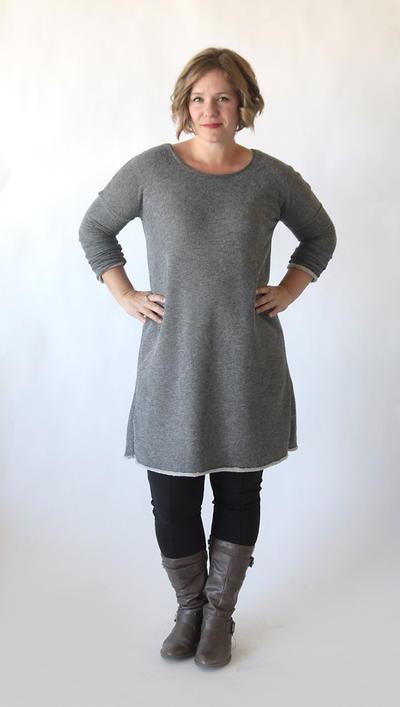 flattering sweater dress pattern. Black Bedroom Furniture Sets. Home Design Ideas