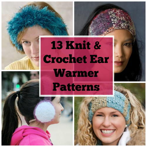 14 Knit and Crochet Ear Warmer Patterns