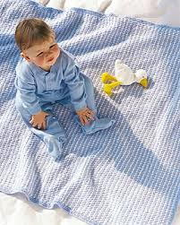 Blue and White Baby Blanket
