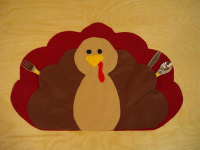 Last Minute Kids Thanksgiving Placemat
