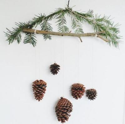 Pine Cone Ornament Mobile  AllFreeHolidayCrafts.com
