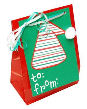 Elf Hat Gift Bag and Tag