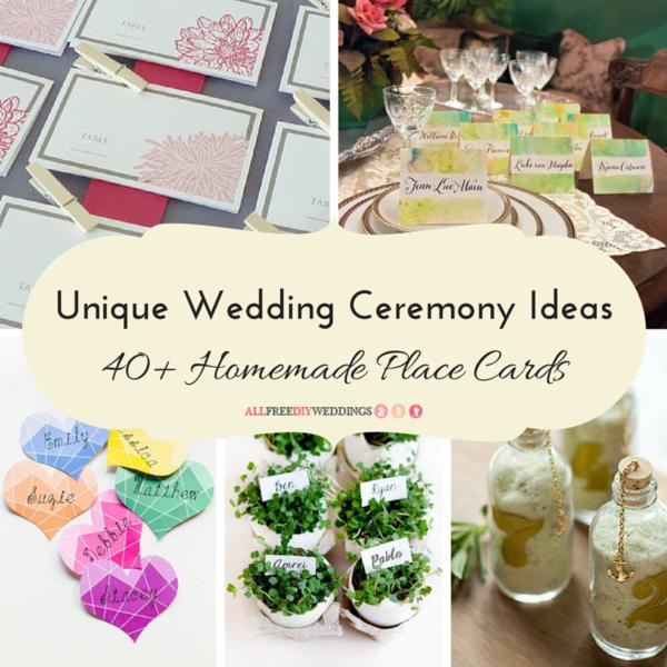 Unique wedding ceremony ideas 40 homemade place cards Unique place card ideas