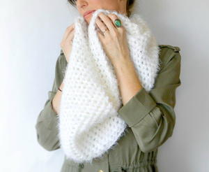 Powdered Sugar Infinity Scarf Crochet Pattern
