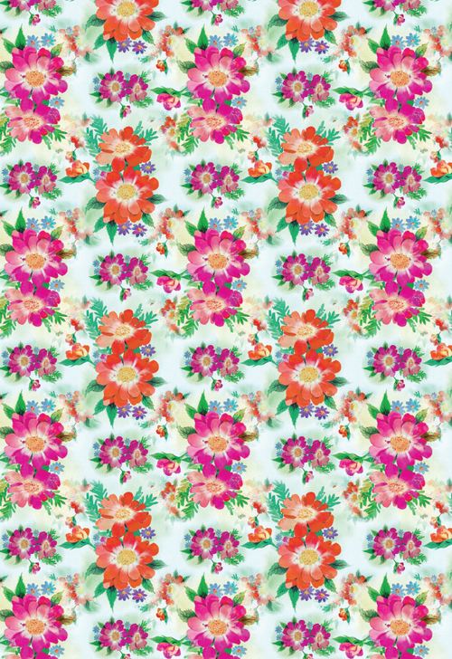 Bright Blooms Printable Wrapping Paper | AllFreePaperCrafts.com