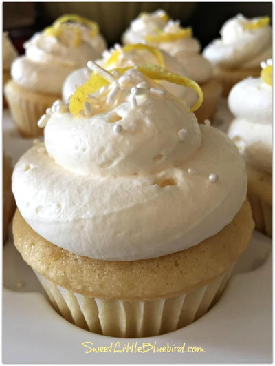 Lemon Cupcakes With Lemon Whipped Cream Frosting Recipe ...