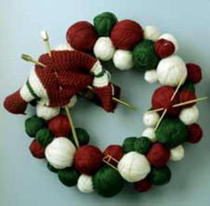 Christmas Knitting Wreath