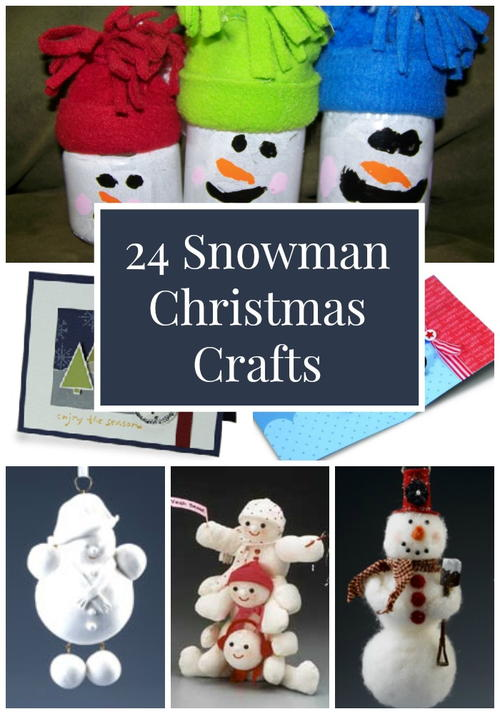 24 Snowman Christmas Crafts