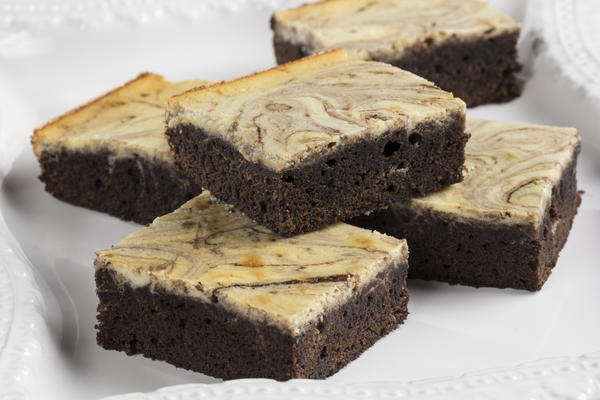 Cream Cheese Marbled Brownies | MrFood.com