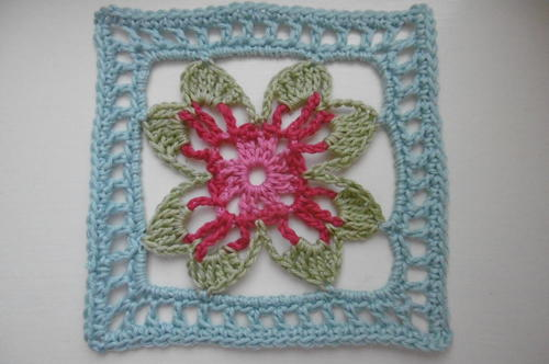 Lotus Blossom Crochet Granny Square