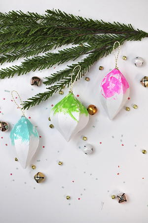 Neon Homemade Christmas Ornaments