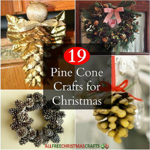 19 pine cone crafts for christmas for Pine cone christmas ornaments crafts