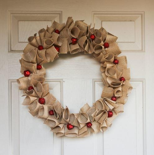 Festive Red Bell Burlap DIY Wreath #0: Festive Red Bell Burlap DIY Wreath 500 ID v=