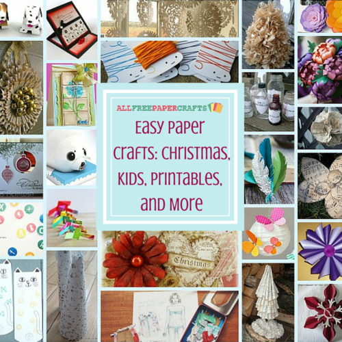 25 easy paper crafts christmas printables and more for Printable christmas craft ideas