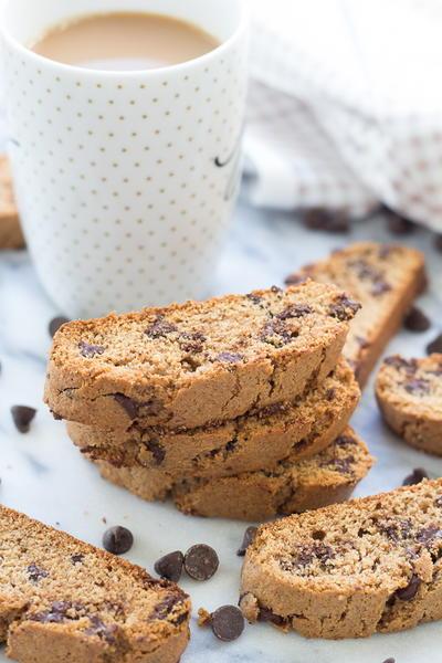 Cinnamon Dark Chocolate Chip Biscotti