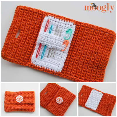 Crocheting Needles Beginners : Nifty Crochet Needle Case AllFreeCrochet.com