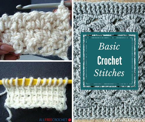 How To Crochet Different Stitches : 31 Basic Crochet Stitches : Each crochet stitch tutorial has helpful ...