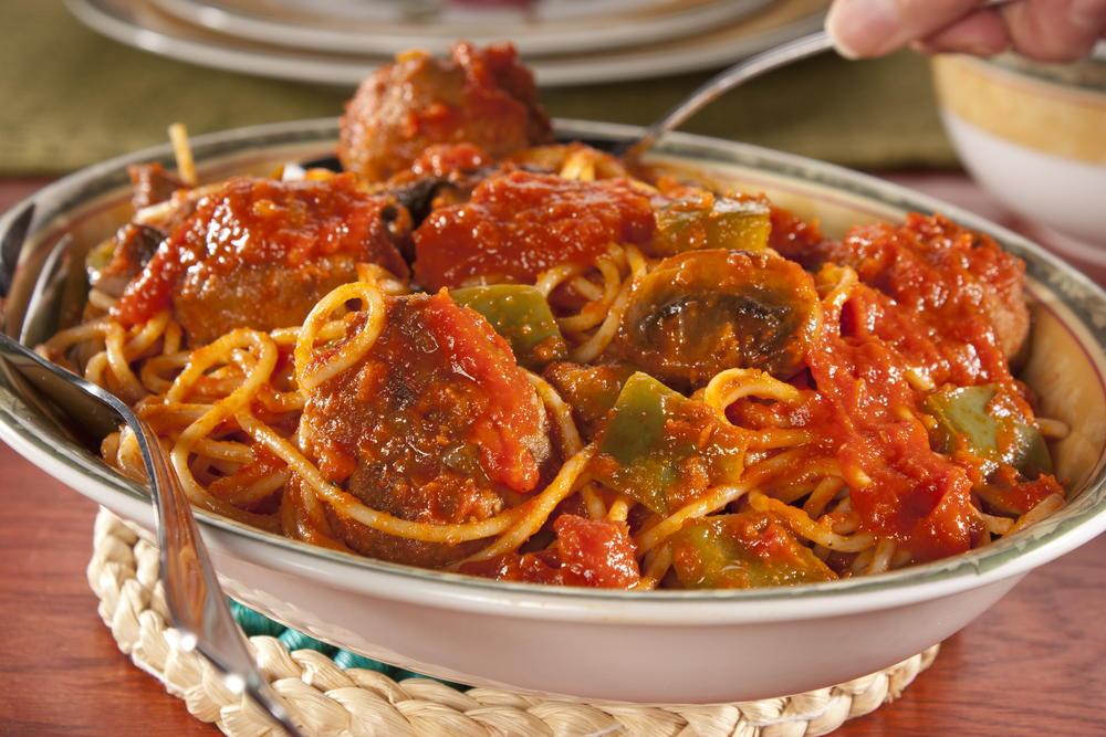 Turkey Meatballs With Spaghetti