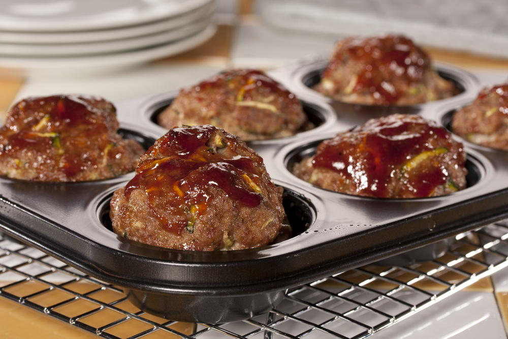 Two Step Meat Loaf Muffins