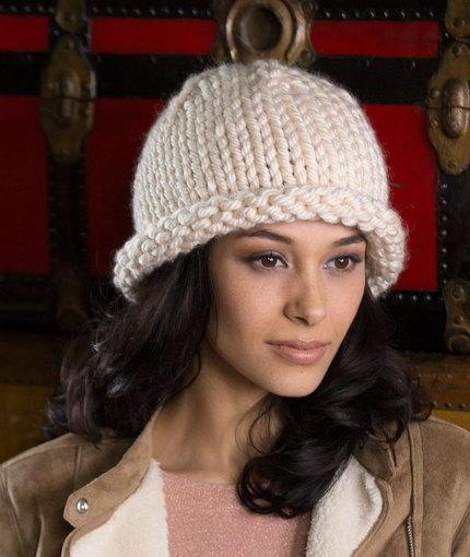 Free Knitting Pattern Rolled Brim Hat : Royal Artisan Hat AllFreeKnitting.com