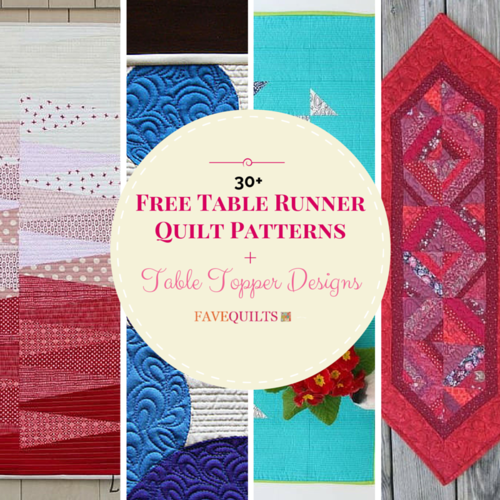 Free Table Runner Quilt Patterns and Table Topper Designs