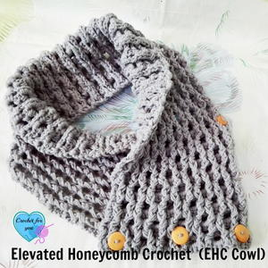Elevated Honeycomb Crochet Cowl