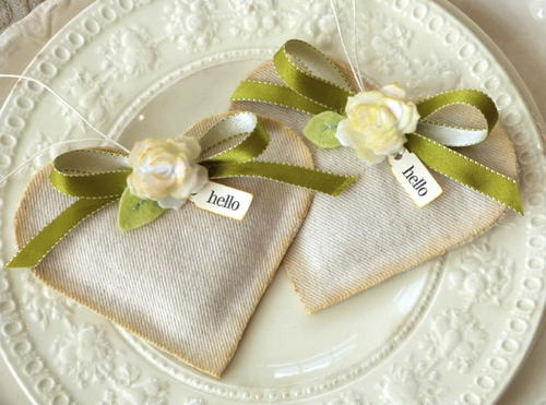 Hello Heart Fabric Sachets