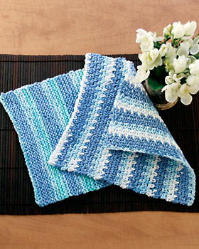 Traditional Fair Isle Knitting Patterns : Easy Dishcloth Knitting Pattern FaveCrafts.com