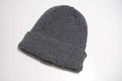 Men s Hat Knitting Pattern Straight Needles : Favorite Ribbed Hat for Straight Needles AllFreeKnitting.com