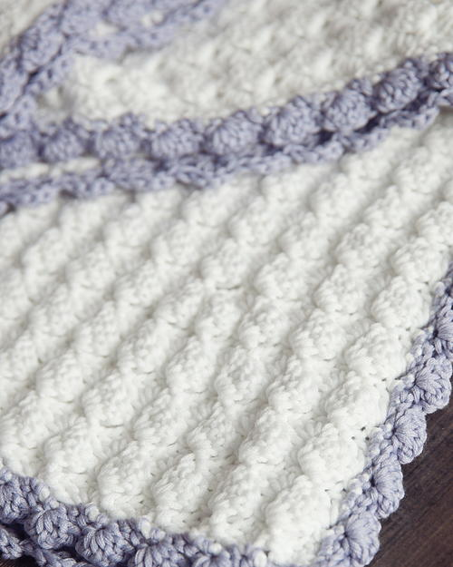 Free Vintage Knitting Patterns For Baby Blankets : Vintage Chic Crochet Baby Blanket AllFreeCrochetAfghanPatterns.com