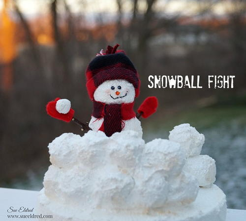 Snowball Fight Snowman Craft