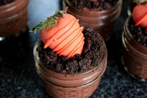 Springtime Dessert Pudding Cups