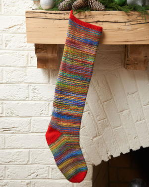 Crazy Colorful Knit Stocking
