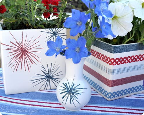 Modern Americana DIY Vases