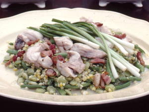 Succotash with Three Steamed Fish