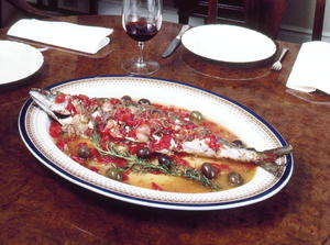 Baked Spanish Mackerel