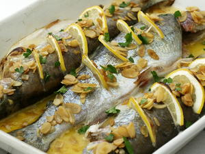 Baked Trout with Almonds