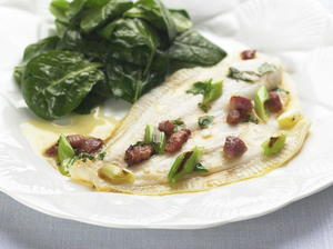 Baked Flounder with Bacon