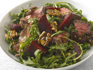Beef Salad with Caramelized Walnuts