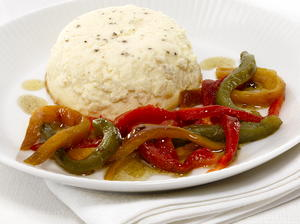 Goat Cheese Mousse with Grilled Peppers