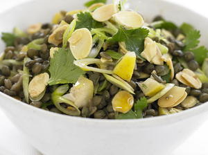 Lentil Salad with Lemon and Almonds