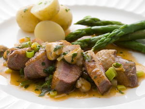 Duck Breasts with Mushroom Sauce