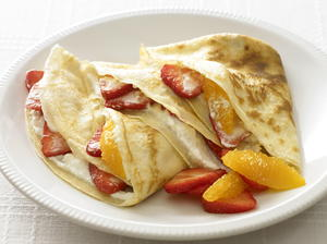 Strawberry and Orange Crêpes