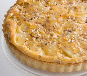 Pear, Mascarpone, and Hazelnut Tart